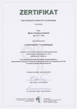 Zertifikat DIL