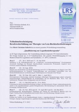 Zertifikat LRS